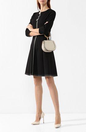 Женская кожаные туфли romy 110  JIMMY CHOO кремвого цвета, арт. R0MY 110/KID | Фото 2