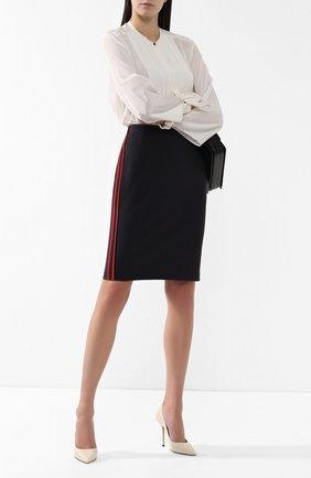 Женская лаковые туфли love 100 JIMMY CHOO кремвого цвета, арт. L0VE 100/PAT | Фото 2