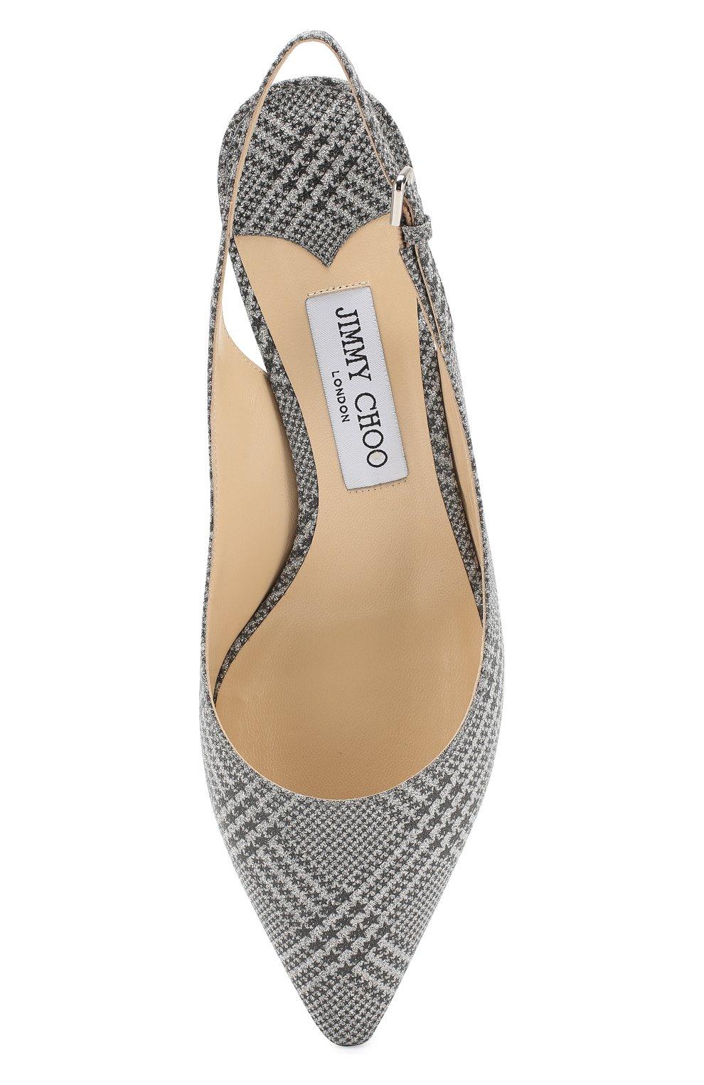Кожаные туфли Erin 60 Jimmy Choo серебряные   Фото №5
