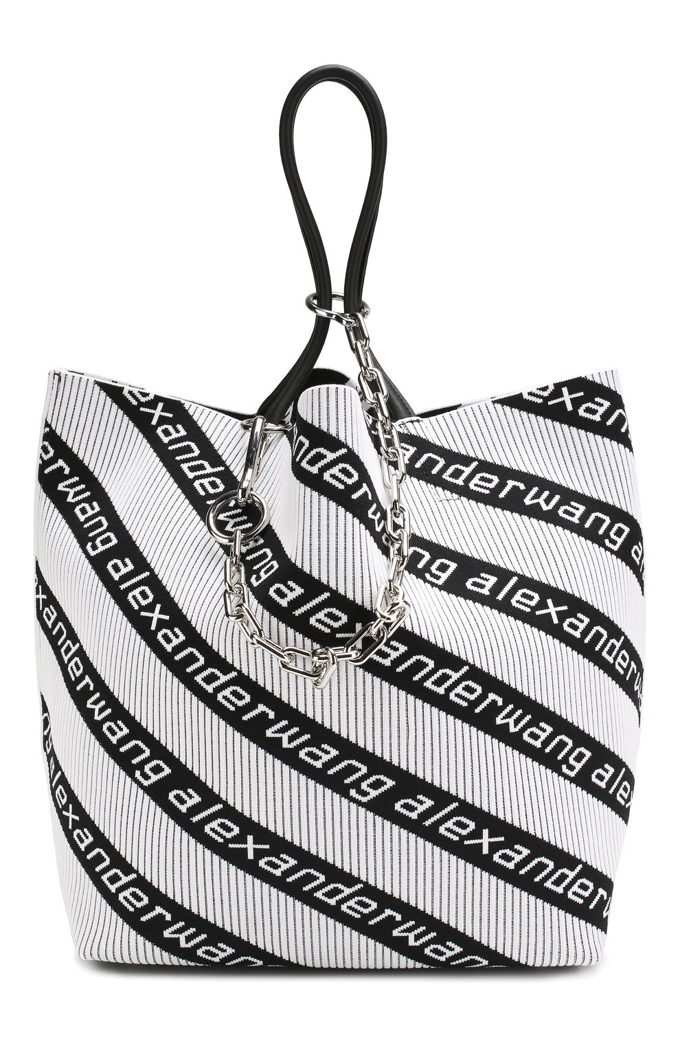 Сумка Roxy  Alexander Wang черно-белая цвета | Фото №1