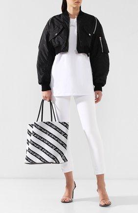 Сумка Roxy  Alexander Wang черно-белая цвета | Фото №2