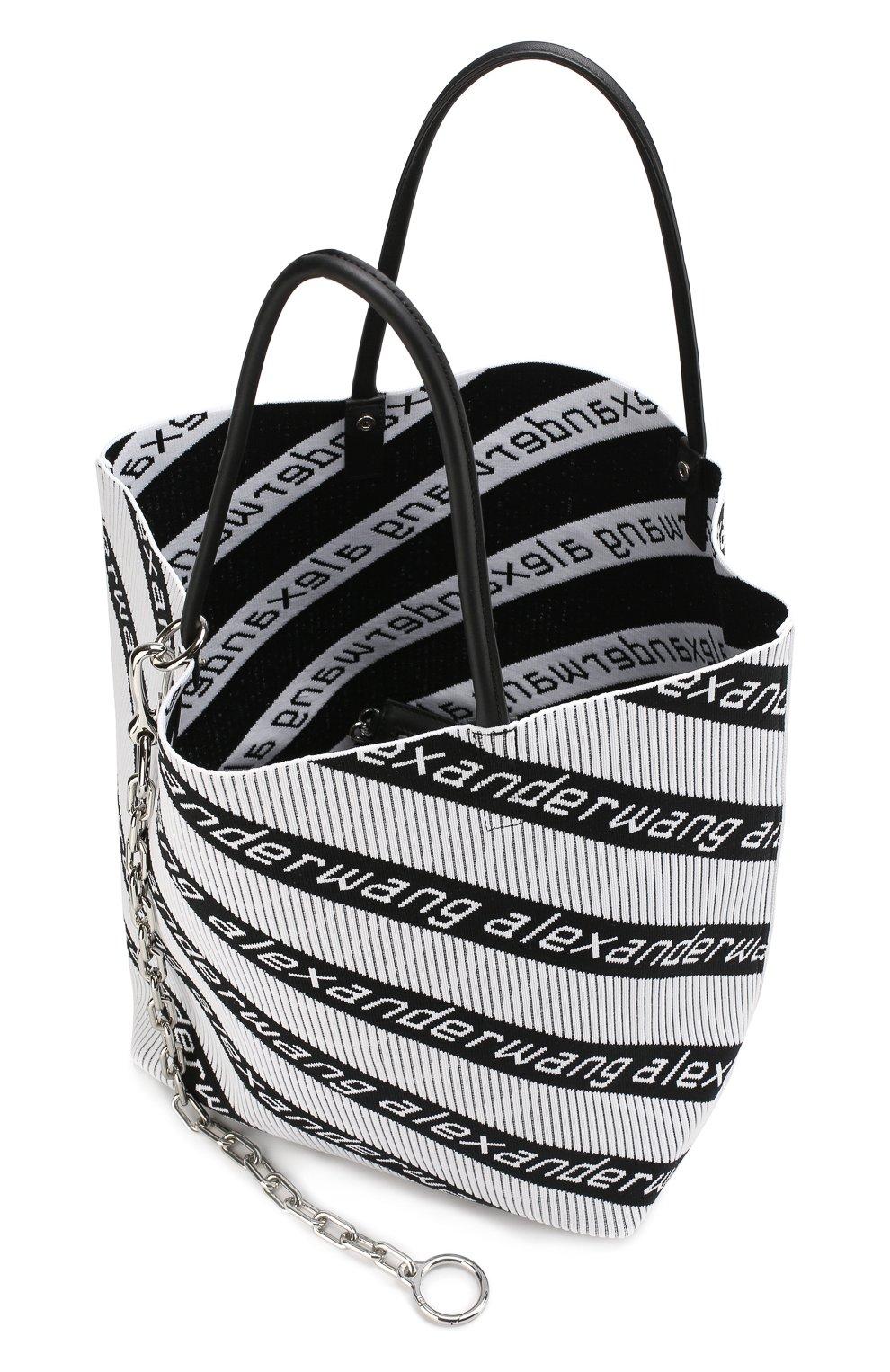 Сумка Roxy  Alexander Wang черно-белая цвета | Фото №4