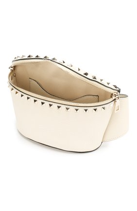Поясная сумка Valentino Garavani Rockstud Valentino кремовая | Фото №4