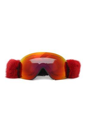 Горнолыжная маска Dolce & Gabbana красные | Фото №2