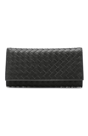 Мужской кожаное портмоне BOTTEGA VENETA серого цвета, арт. 120697/V4651 | Фото 1