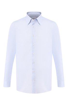 Мужская сорочка из смеси хлопка и льна ZILLI голубого цвета, арт. MFR-01190-MERCU/RZ01 | Фото 1