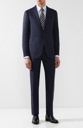 Мужская сорочка из смеси хлопка и льна ZILLI голубого цвета, арт. MFR-01190-MERCU/RZ01 | Фото 2