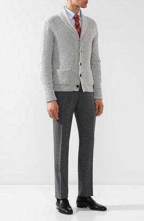 Мужские кожаные лоферы  BRIONI черного цвета, арт. QFCM0L/P8714 | Фото 2