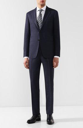 Мужские кожаные оксфорды BRIONI темно-синего цвета, арт. QEDS0N/P6757 | Фото 2
