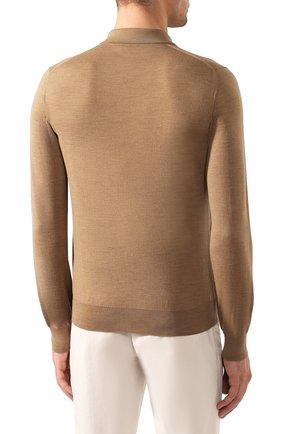 Мужское шерстяное поло BRIONI бежевого цвета, арт. UMS10L/0ZK18   Фото 4