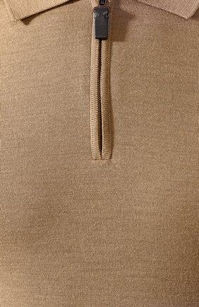 Мужское шерстяное поло BRIONI бежевого цвета, арт. UMS10L/0ZK18   Фото 5