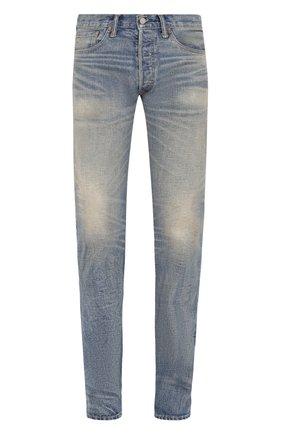 Мужские джинсы прямого кроя RRL голубого цвета, арт. 782658886 | Фото 1