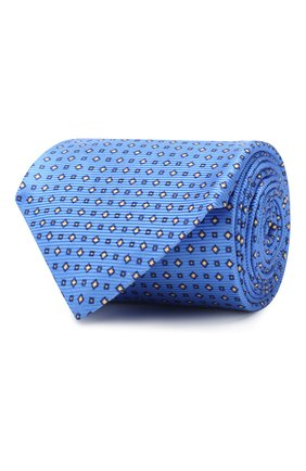 Мужской шелковый галстук KITON голубого цвета, арт. UCRVKLC06F94 | Фото 1