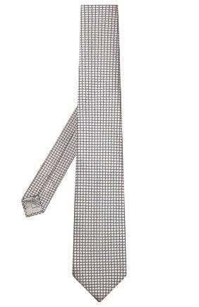 Мужской шелковый галстук BRIONI бежевого цвета, арт. 062H00/P8439 | Фото 2