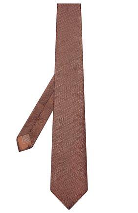Мужской шелковый галстук BRIONI бронзового цвета, арт. 062I00/P8410 | Фото 2