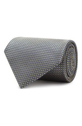 Мужской шелковый галстук BRIONI желтого цвета, арт. 062I00/P8435 | Фото 1