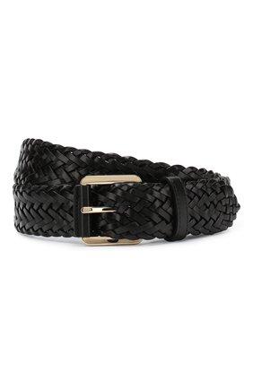 Мужской кожаный ремень  BRIONI черного цвета, арт. 0BZS0L/P8742 | Фото 1