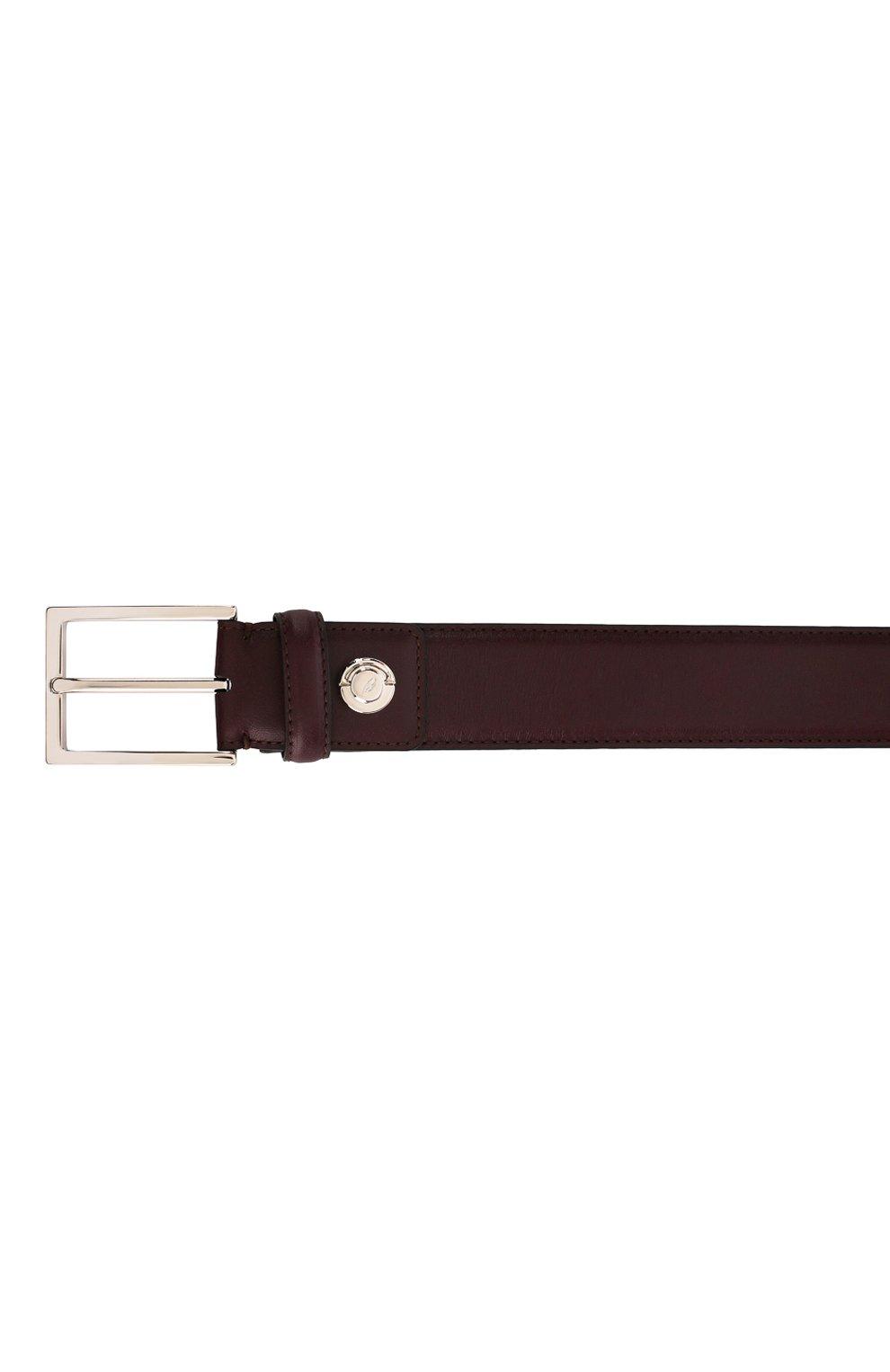 Мужской кожаный ремень  BRIONI бордового цвета, арт. 0BZ60L/07710 | Фото 3
