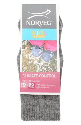 Детские шерстяные носки NORVEG серого цвета, арт. 9CCURU-003 | Фото 1