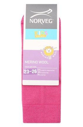Детские шерстяные носки NORVEG розового цвета, арт. 9WURU-042 | Фото 1