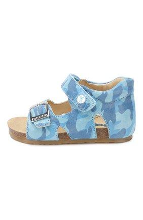 Детские кожаные сандалии с застежкой велькро FALCOTTO голубого цвета, арт. 0011500737/14 | Фото 2