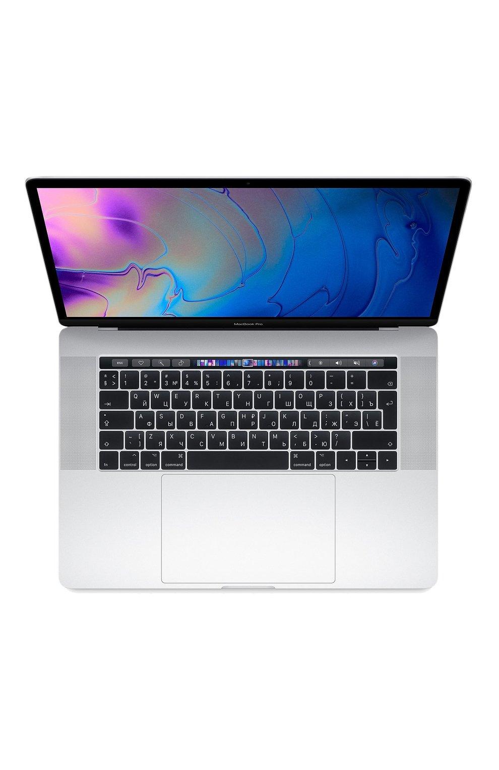 "MacBook Pro 15"" с панелью Touch Bar со встроенным датчиком Touch ID 6-Core i7 2.6GHz 512GB Silver Apple    Фото №1"