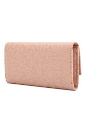 Женские кожаный кошелек gg marmont GUCCI розового цвета, арт. 456116/CA00G | Фото 2