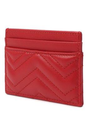 Женский кожаный футляр для кредитных карт  GUCCI красного цвета, арт. 443127/DTD1T | Фото 2
