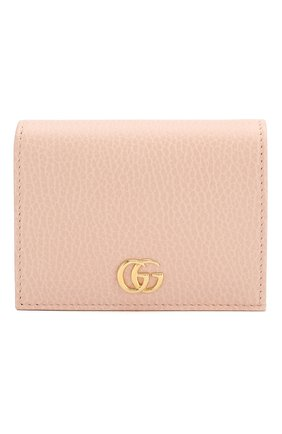 Женские кожаное портмоне GUCCI розового цвета, арт. 456126/CA00G | Фото 1