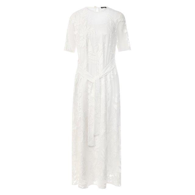Платье из смеси хлопка и шелка Kiton