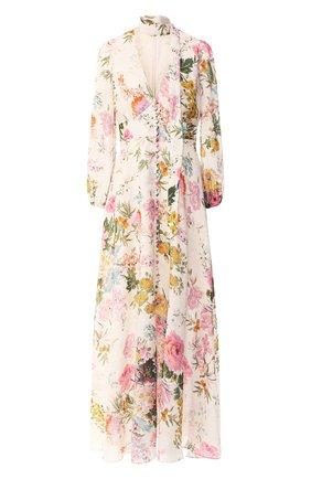 Льняное платье-макси   Фото №1