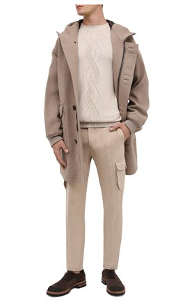 Мужской джемпер из смеси кашемира и шелка LORO PIANA светло-бежевого цвета, арт. FAI4313 | Фото 2
