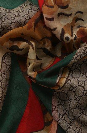 Мужской шерстяной шарф  GUCCI разноцветного цвета, арт. 495511/4G200 | Фото 2
