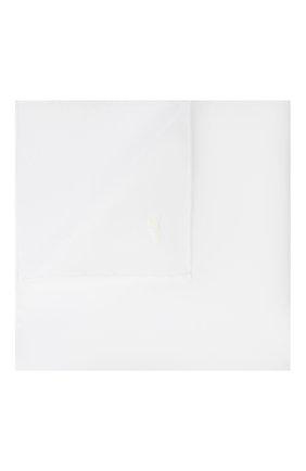 Мужской хлопковый платок BRIONI белого цвета, арт. 071400/PZ068 | Фото 1