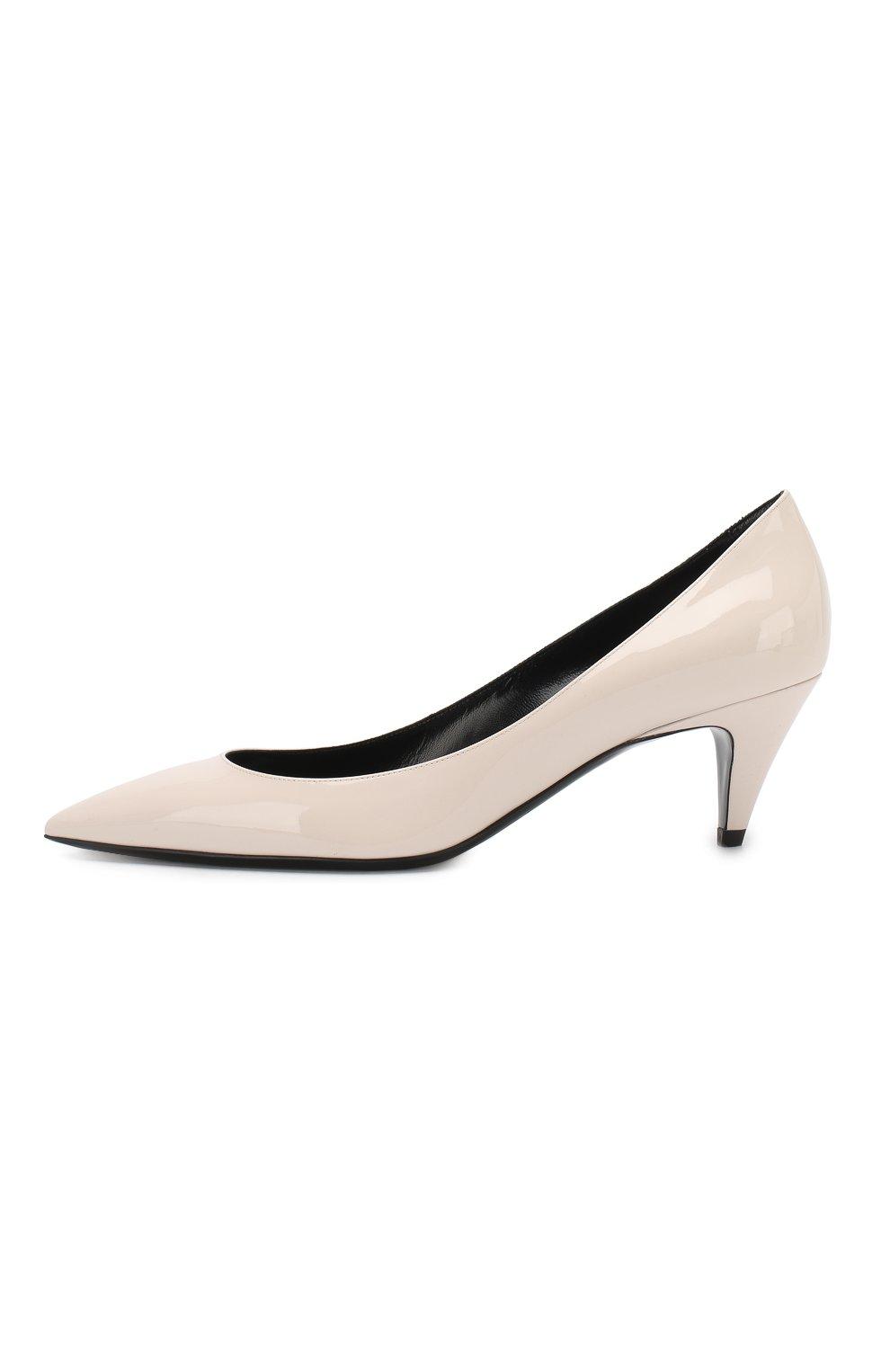 Лаковые туфли Charlotte Saint Laurent кремовые | Фото №3