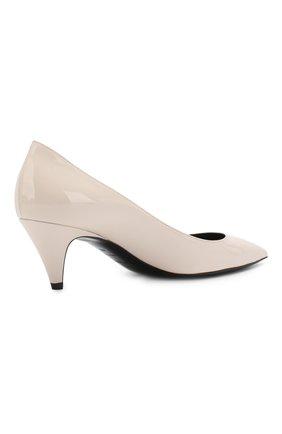 Лаковые туфли Charlotte Saint Laurent кремовые | Фото №4