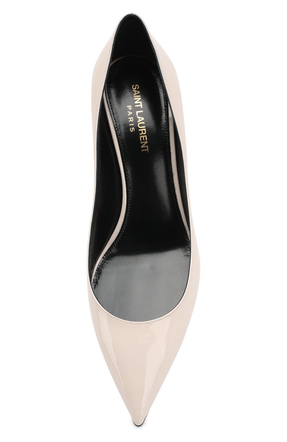 Лаковые туфли Charlotte Saint Laurent кремовые | Фото №5