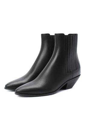 Женские кожаные ботинки west SAINT LAURENT черного цвета, арт. 549214/CY500 | Фото 1