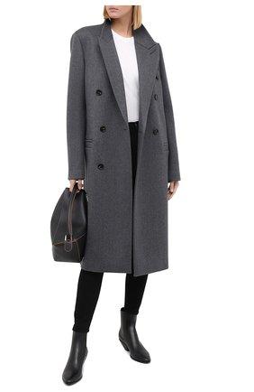 Женские кожаные ботинки west SAINT LAURENT черного цвета, арт. 549214/CY500 | Фото 2