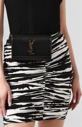 Женская поясная сумка monogram kate SAINT LAURENT черного цвета, арт. 534395/DV70J | Фото 2