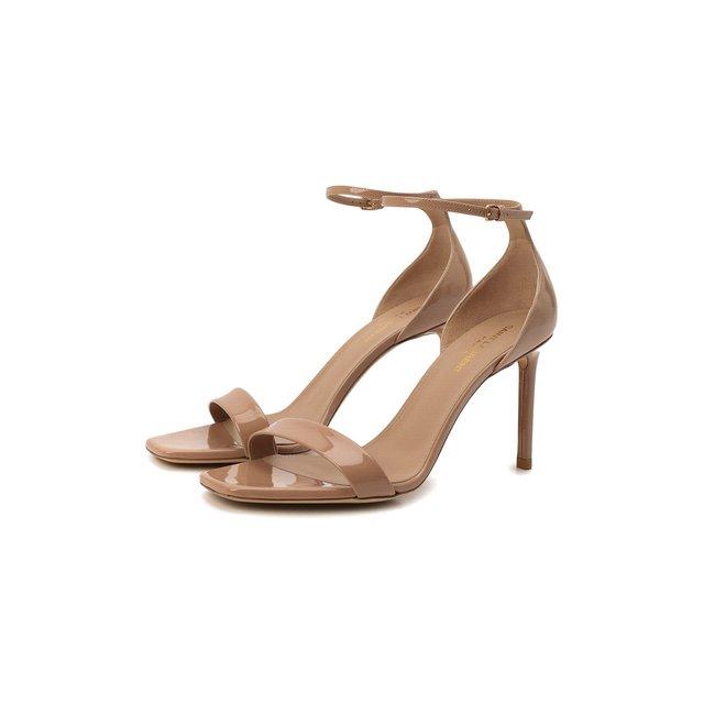 Кожаные босоножки Amber Saint Laurent