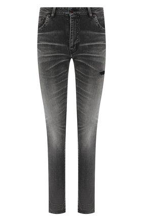 Женские джинсы с потертостями SAINT LAURENT черного цвета, арт. 542046/YT869 | Фото 1