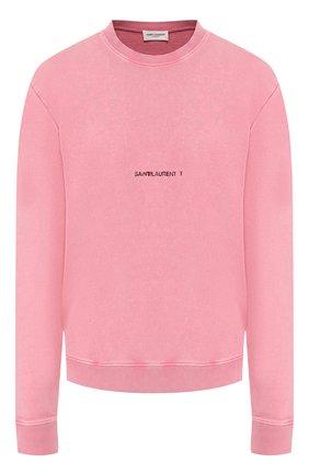 Хлопковый пуловер с логотипом бренда | Фото №1