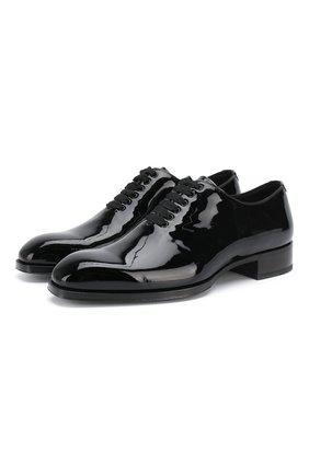 Мужские кожаные оксфорды TOM FORD черного цвета, арт. J1123T-VRN | Фото 1