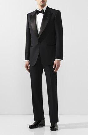 Мужские кожаные оксфорды TOM FORD черного цвета, арт. J1123T-VRN | Фото 2