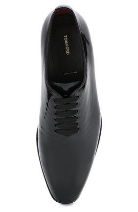 Мужские кожаные оксфорды TOM FORD черного цвета, арт. J1123T-VRN | Фото 5