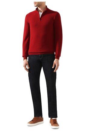 Мужской кашемировый джемпер LORO PIANA красного цвета, арт. FAI0190 | Фото 2