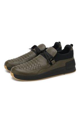 Кожаные кроссовки BV Grand  | Фото №1