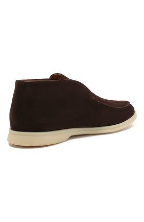 Мужские замшевые ботинки open walk LORO PIANA коричневого цвета, арт. FAB4368 | Фото 4