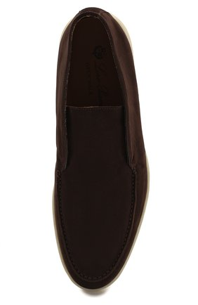 Мужские замшевые ботинки open walk LORO PIANA коричневого цвета, арт. FAB4368 | Фото 5
